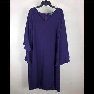 Lauren Ralph Lauren Womens Arieana Purple Crepe